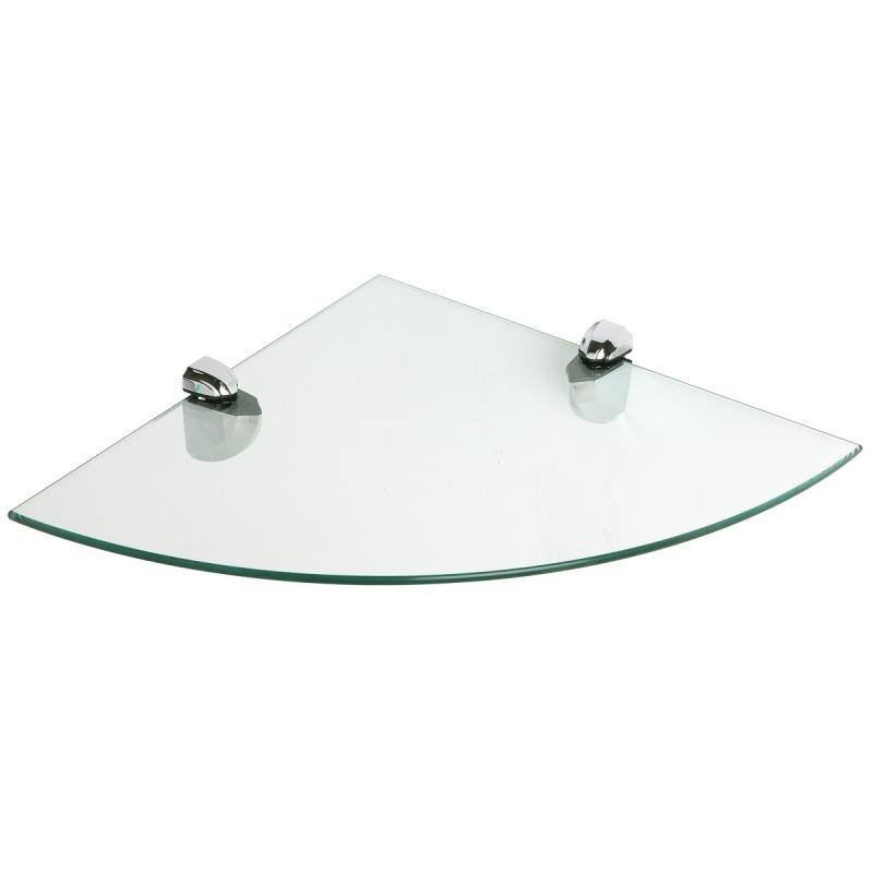 Mensola angolo 30x30 cm in vetro temperato reggi mensola ...