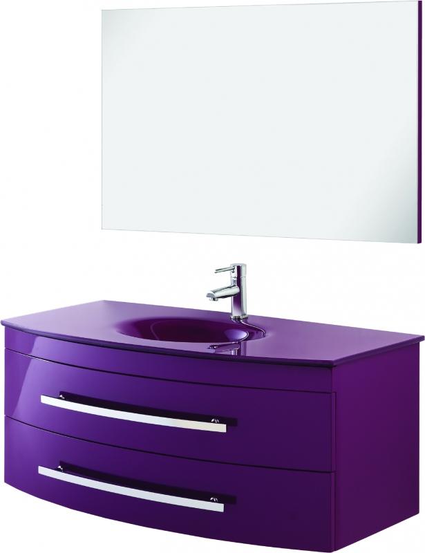 Mobile composizione bagno viola 110 cm 445021