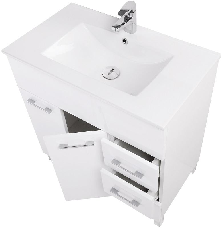 Mobile composizione bagno bianco 81x84x46 cm feridras for Composizione bagno offerte