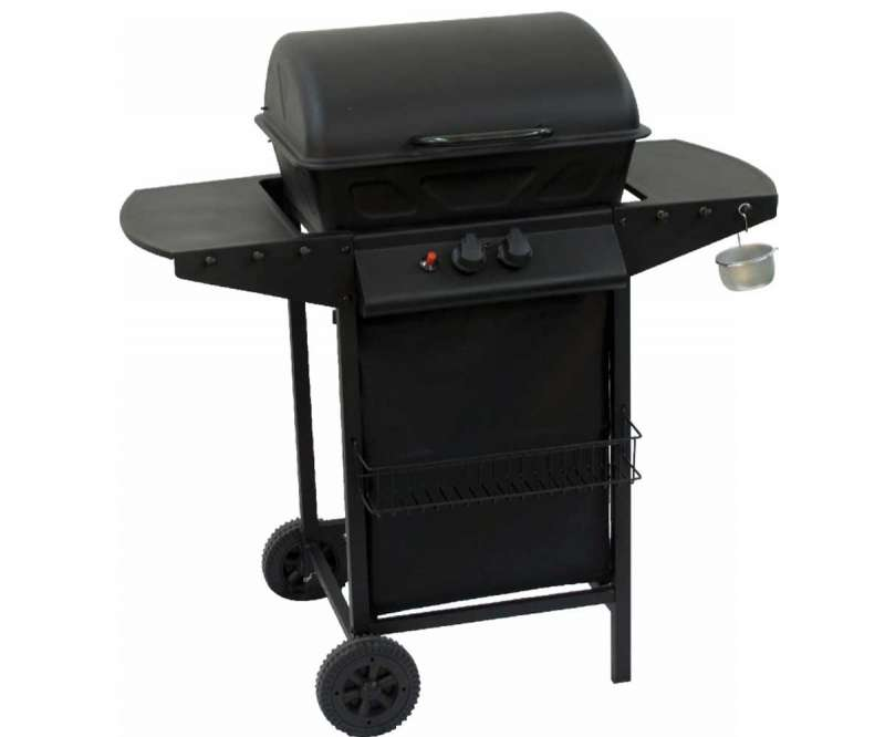 Barbecue a gas 2 fuochi 75x46x102cm omp giordanojolly for Giordano shop barbecue a gas
