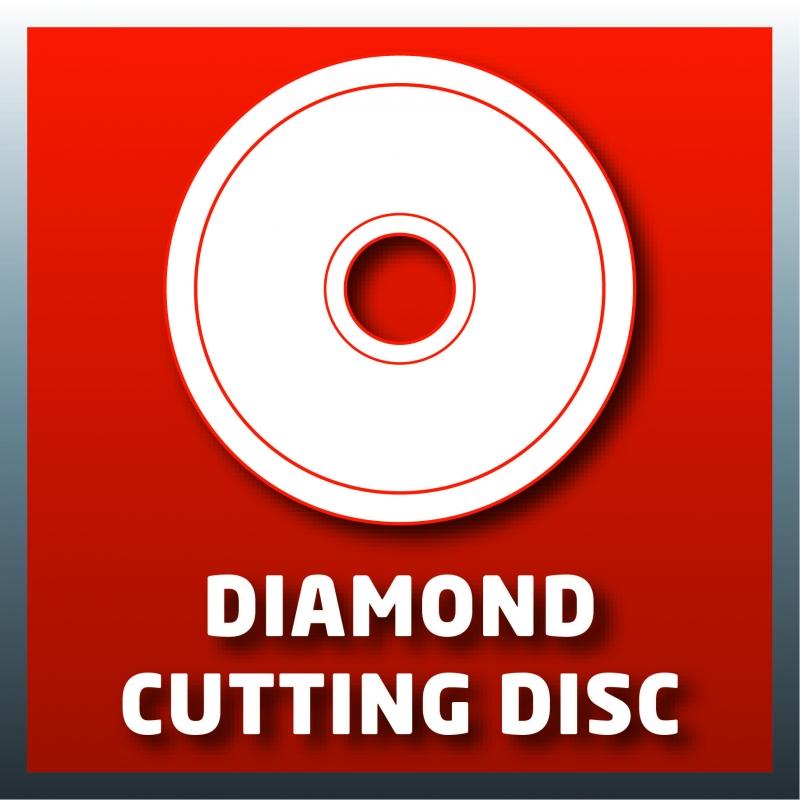 Disco diamantato in dotazione