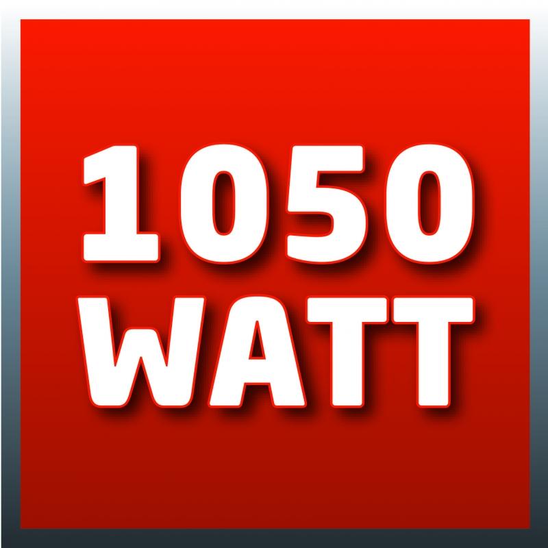 1050 Watt di potenza