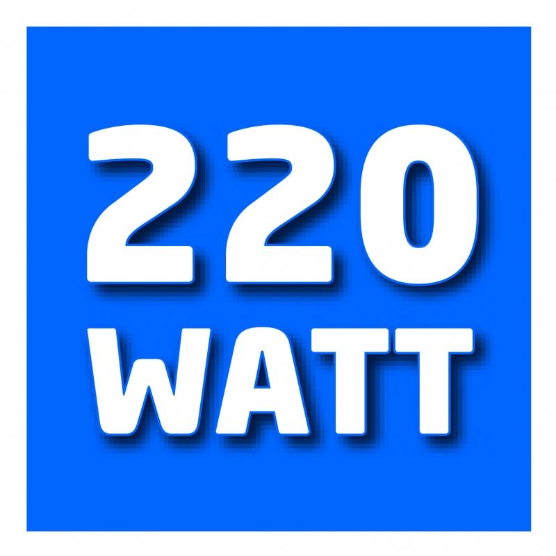 220 Watt di potenza