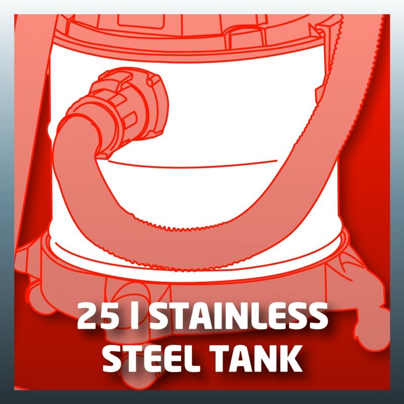 Serbatoio in acciaio da 25 litri