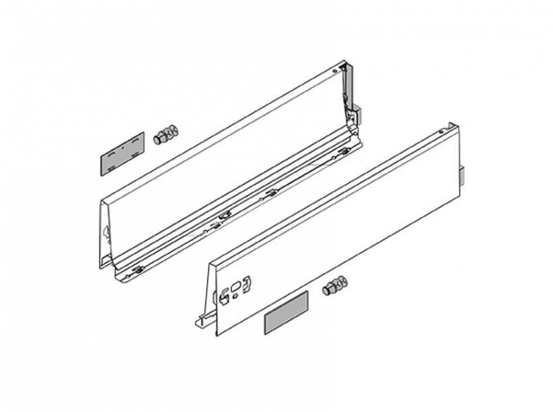 Set accessori per montaggio cassetto con ringhierine Tadembox Blum ...