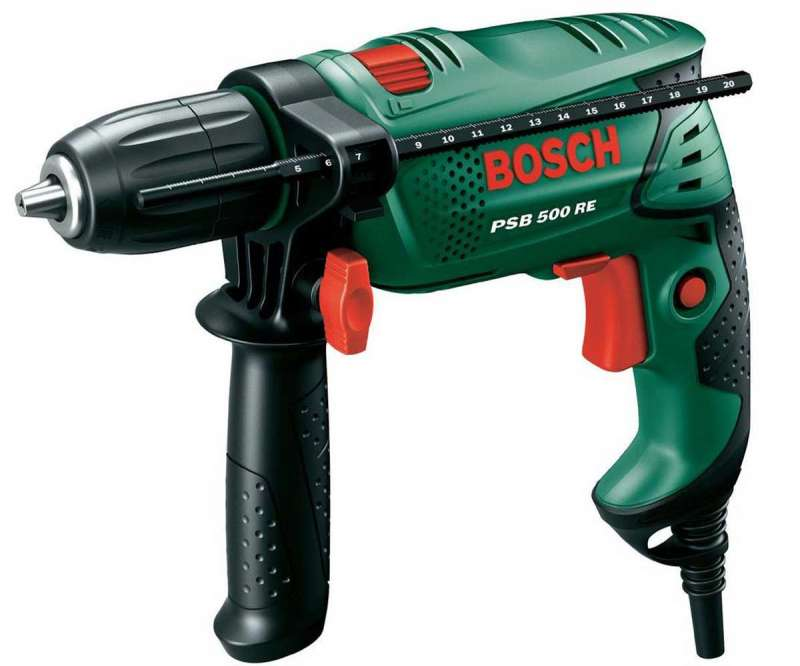 Trapano a percussione 500 Watt PSB 500 RE Bosch