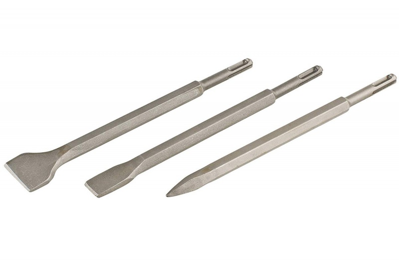 Set Scalpelli e punta SDS Plus da 250 mm 3 pz Kwb