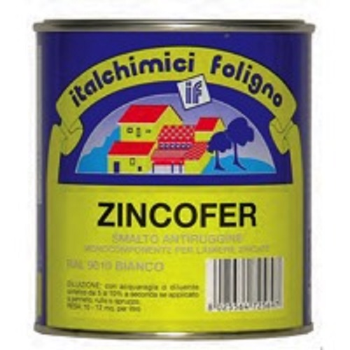 Zincofer smalto antiruggine per lamiere zincate nero 750 ml