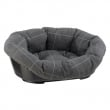 Lettino in plastica con cuscino sofa 2 galles grigio Ferplast