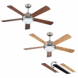 Ventilatore a soffitto Double Face con telecomando Vinco 70934 132 cm